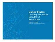 Leading the Mobile Broadband Revolution - 4G Americas