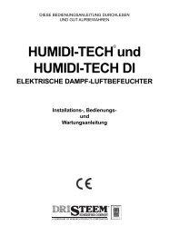 HUMIDI-TECH und HUMIDI-TECH DI - DRI-STEEM