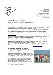 Newsletter No 4 - International Eurythmy Therapy Forum