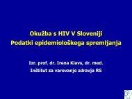 prof. dr. Irena Klavs - IVZ RS