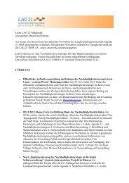 Newsletter November - Landesarbeitsgemeinschaft Agenda 21 ...
