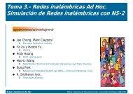 Redes inalámbricas Ad Hoc. Simulación de Redes inalámbricas con ...
