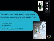 Plate-forme Biodimar/UBO - Biogenouest