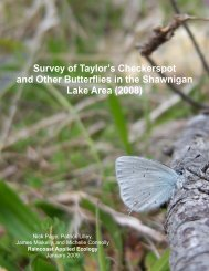2008 Shawnigan Butterfly Survey - Raincoast Applied Ecology