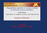 Diagonalization algorithms in real space methods for electronic ...