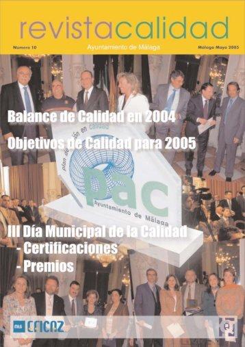 Revista Q10.qxp - Calidad - Ayuntamiento de Málaga