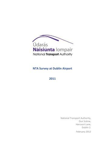 NTA Survey at Dublin Airport 2011 - National Transport Authority