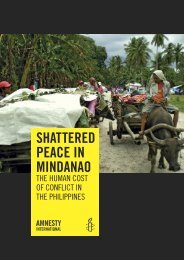 Shattered Peace in Mindanao: the human cost of conflict in the ...