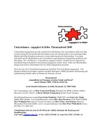 Themenabend Einladung - Kölner Netzwerk Bürgerengagement