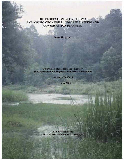 the vegetation of oklahoma - Oklahoma Biological Survey ...