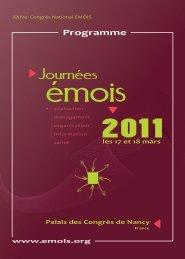 ProgrammeEMOIS2011 - Département d'information médicale