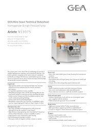 GEA Niro Soavi Ariete NS3075 Tech Sheets ENG Rev05 2012 ...