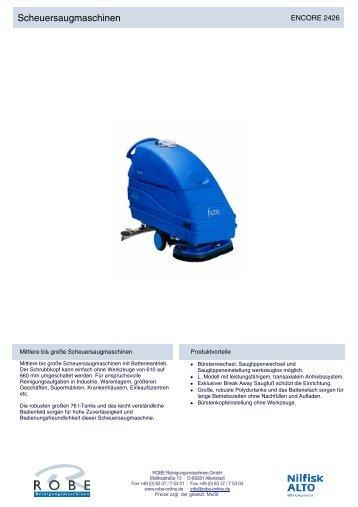 Scheuersaugmaschinen - Robe Reinigungsmaschinen GmbH