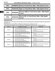 DTC C0200/31 Front Speed Sensor RH Circuit DTC C0205/32