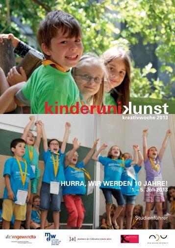 können Sie den Studienführer downloaden(PDF ... - KinderuniKunst
