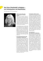 Die freie Schulwahl in Belgien – ein Schulsystem mit Nachteilen