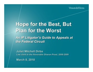 An IP Litigator's Guide to Appeals at