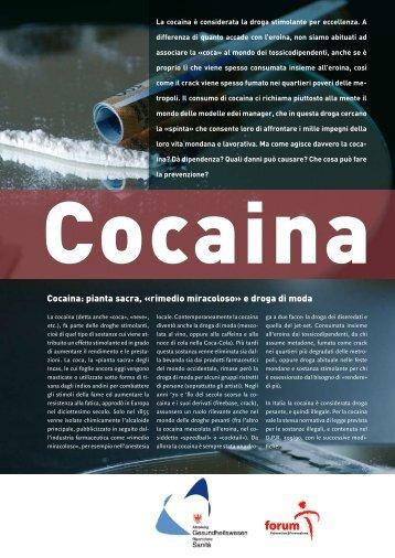 Cocaina - Provincia Autonoma di Bolzano