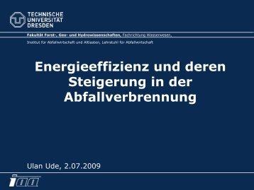 Energieeffizienz und deren Steigerung in der Abfallverbrennung