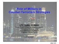 Role of Military in Counter-Terrorism Strategies - ASEAN Regional ...