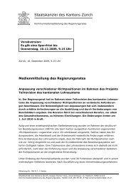 Staatskanzlei des Kantons Zürich - Über die AGGP