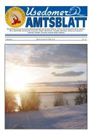 Jahrgang 9 Mittwoch, den 20. März 2013 Nr. 03 - Amt Usedom Süd