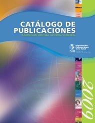 Catálogo de publiCaCiones - PAHO Publications Catalog