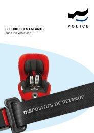 Dispositif de retenue - Police cantonale Fribourg