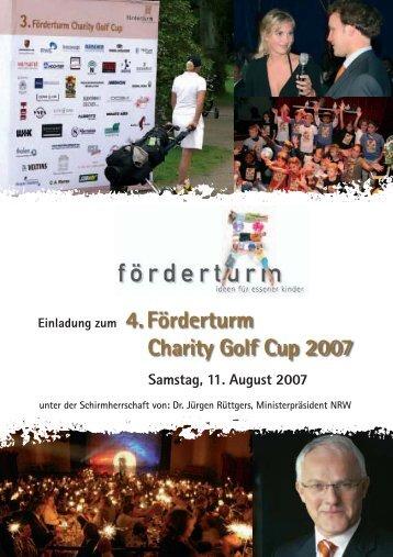 4. Förderturm Charity Golf Cup 2007 - förderturm - ideen für essener ...