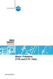 Basic- Fräslehre Z-TS und Z-TF / Holz