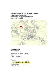 Begründung - Stadt Jüterbog