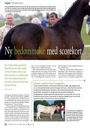 Lineær registrering i kvægavlen - Dansk Varmblod