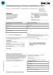 Fertigstellungsanzeige und Antrag zur Inbetriebsetzung - Landerer ...
