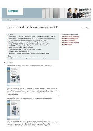 Siemens elektrotechnikos e-naujienos #19