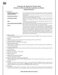 Contrato de Opção de Venda sobre Futuro de Boi Gordo ...