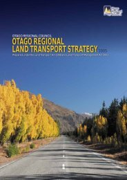 otago regional land transport strategy - Otago Regional Council