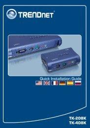 TK-208K TK-408K Quick Installation Guide - TRENDnet