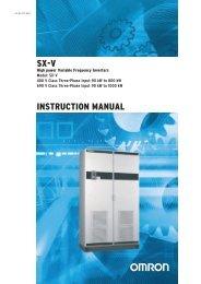 Omron SX inverter manual - Zeltech