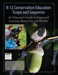 K-12 Conservation Education Scope and Sequence - Association of ...