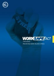 Streetwise - Preventing Work-Related Stress - ACT Government