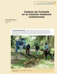 Cadena de Custodia en la industria maderera costarricense
