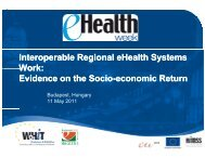 Interoperable Regional eHealth Systems Work ... - World of Health IT