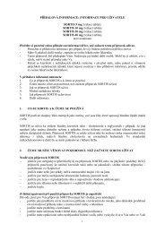 PŘÍBALOVÁ INFORMACE: INFORMACE PRO UŽIVATELE - Pfizer