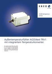 Außentemperaturfühler AGS54ext TRV1 mit integriertem ...