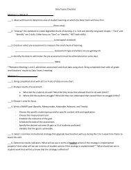 Data Teams Checklist