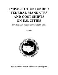 Impact of Unfunded Federal Mandates and Cost Shifts on U.S. Cities