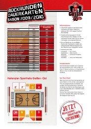 Hallenplan Sporthalle Gießen - Ost FEGHDCB ... - LTi Giessen 46ers