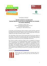 Sociale inclusie en sociaal werk Sociaal Werkers op de bres ter ...