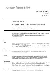 NF DTU 26.2 P1-1 Chapes et dalles à base de liants hydrauliques