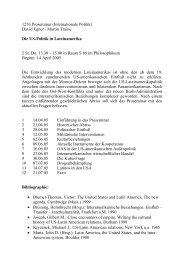 Die US-Politik in Lateinamerika - Lehrstuhl für Internationale Politik ...